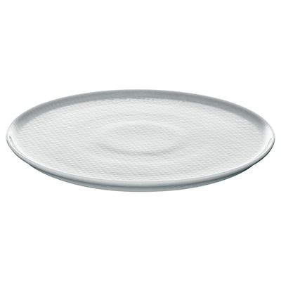 KRUSTAD Plate, light grey, 25 cm