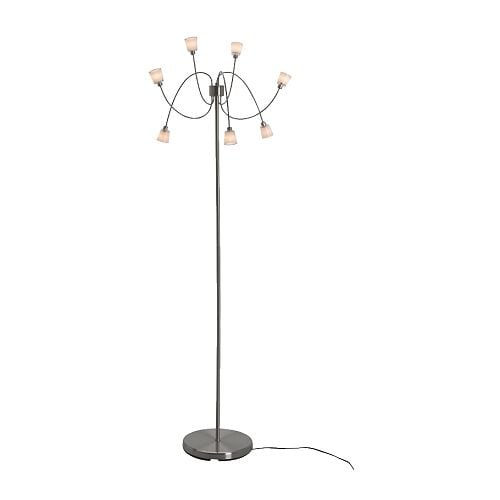 KRYSSBO Floor lamp IKEA 7 halogen bulbs included.   Spare bulbs are available.  Dimmer function; adjust the light intensity according to need.