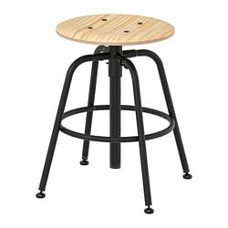 KULLABERG stool, pine, black