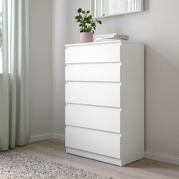 KULLEN chest of 5 drawers white 70 cm 40 cm 112 cm 34 cm