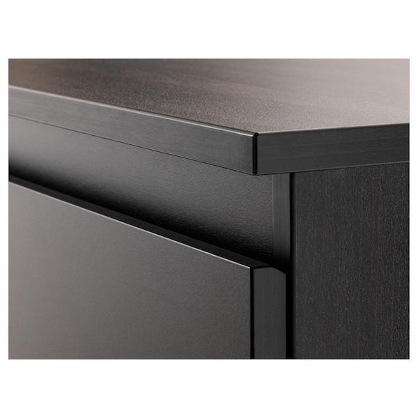 KULLEN Chest of 6 drawers, black-brown, 140x72 cm