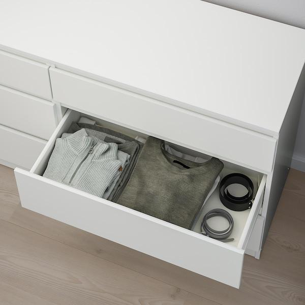 KULLEN Chest of 6 drawers, white, 140x72 cm