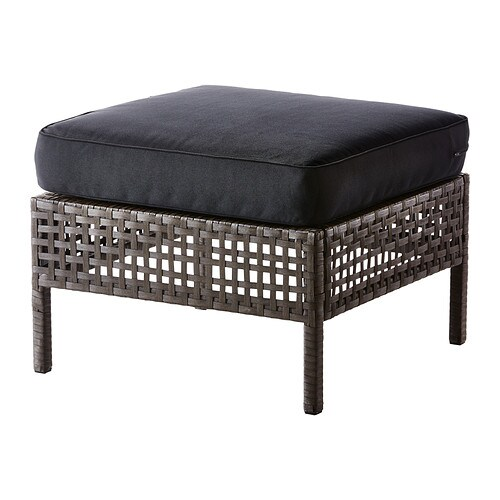 KUNGSHOLMEN / KUNGSÖ Footstool, outdoor IKEA Durable, weather-resistant and maintenance-free since it's made of plastic rattan and rustproof aluminium.