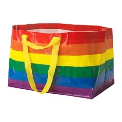 KVANTING carrier bag, large, multicolour