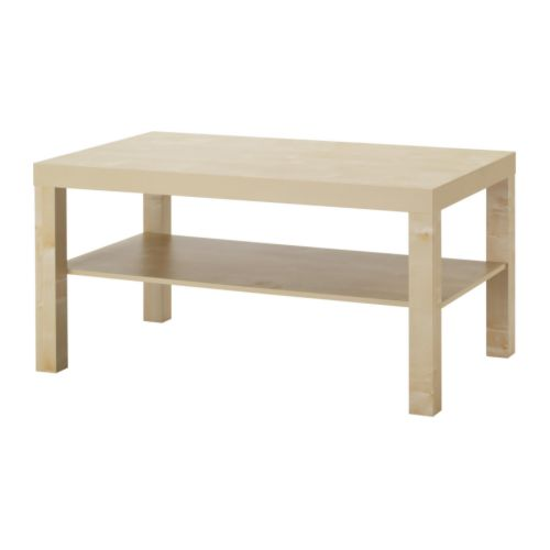 Lack coffee table birch effect ikea for Table en pin ikea