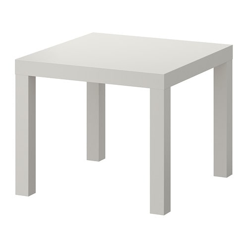 Lack side table grey ikea for Ikea green side table