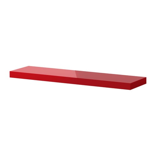 Lack wall shelf high gloss red ikea - Etagere invisible ikea ...
