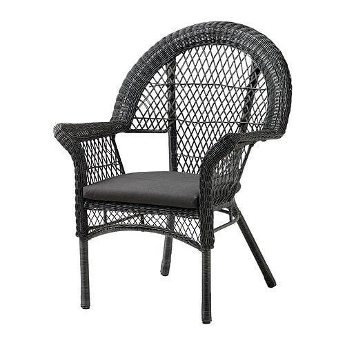 LÄCKÖ Armchair with pad, outdoor - IKEA