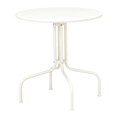 LÄCKÖ Table, outdoor IKEA Easy to keep clean – just wipe with a damp cloth.  The materials in this outdoor furniture require no maintenance.