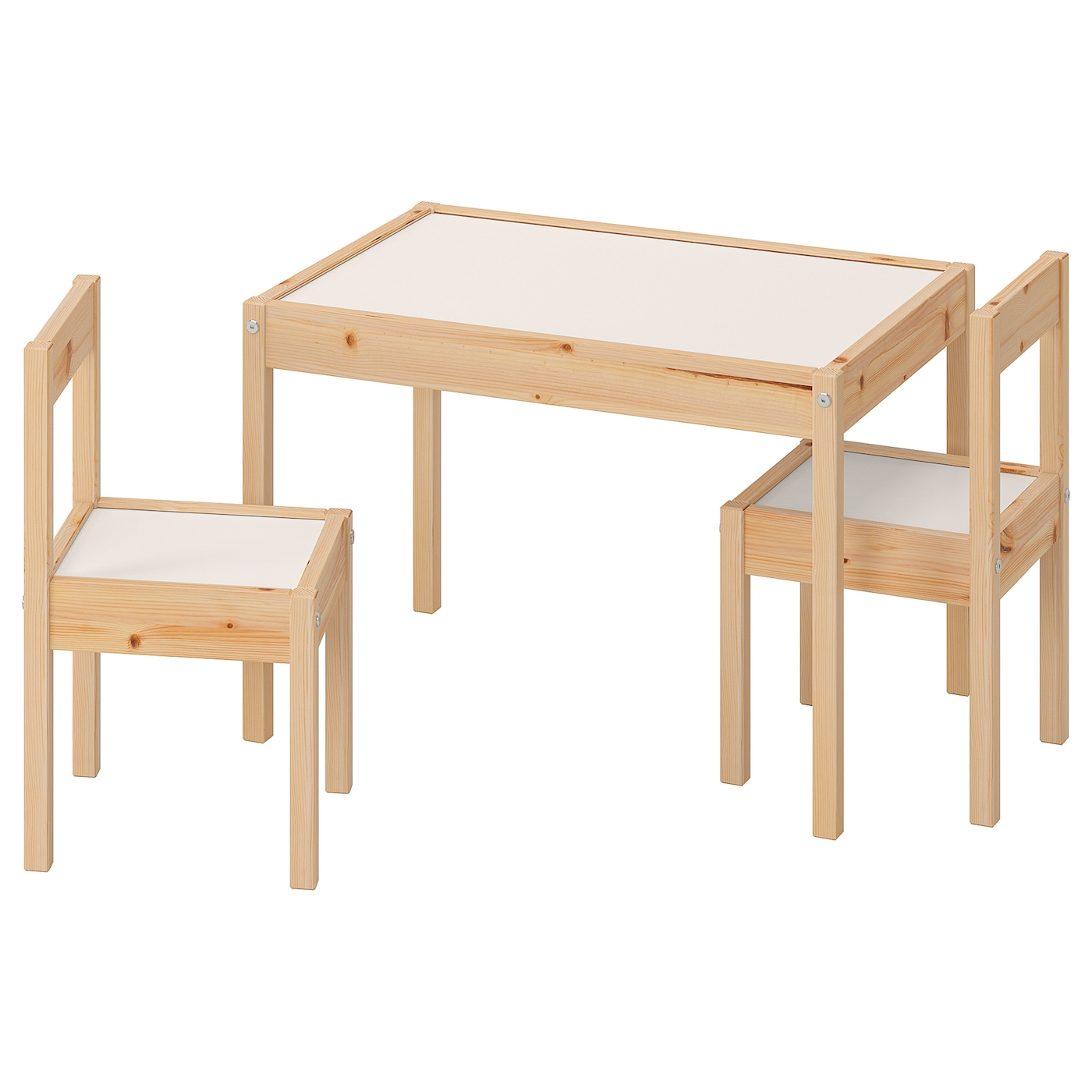 Picture of: Latt Children S Table With 2 Chairs White Pine Ikea