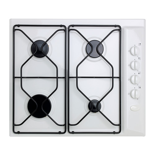 LAGAN HGA4K Gas hob IKEA Integrated safety valves shut off the gas flow automatically in case the flame goes out.