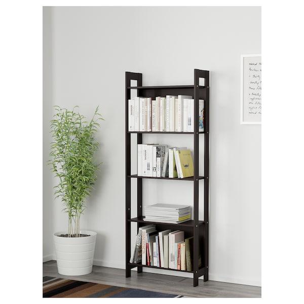 LAIVA bookcase black-brown 62 cm 24 cm 165 cm 15 kg