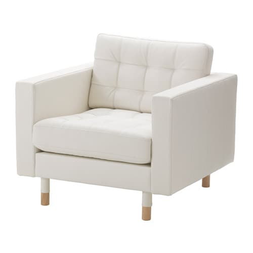 Ikea White Leather Chair Loris Decoration