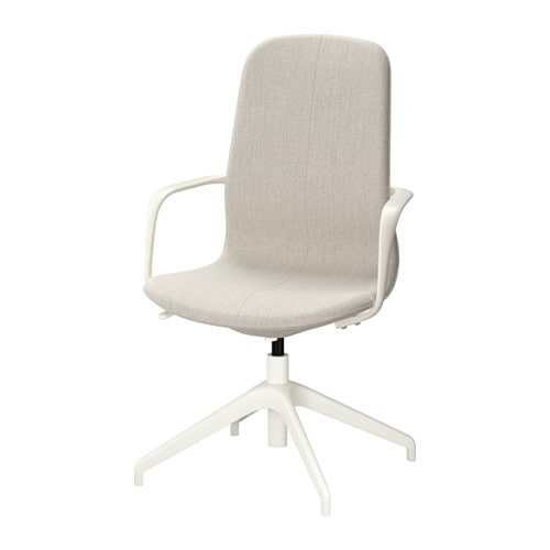 L197NGFJ196LL Swivel chair Gunnared beige white IKEA : langfjall swivel chair beige0460430PE606782S4 Desk Chair <strong>without Wheels</strong> from www.ikea.com size 500 x 500 jpeg 17kB