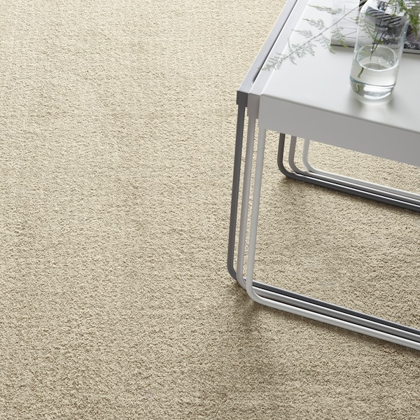 LANGSTED Rug, low pile, beige, 133x195 cm