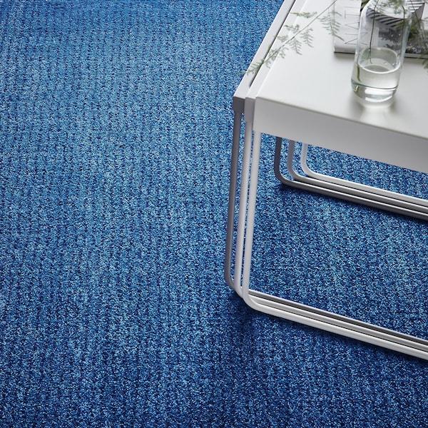LANGSTED Rug, low pile, dark blue, 133x195 cm