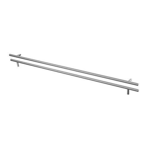 LANSA Handle IKEA The clean lines of these smooth stainless-steel handles give your kitchen a modern touch.