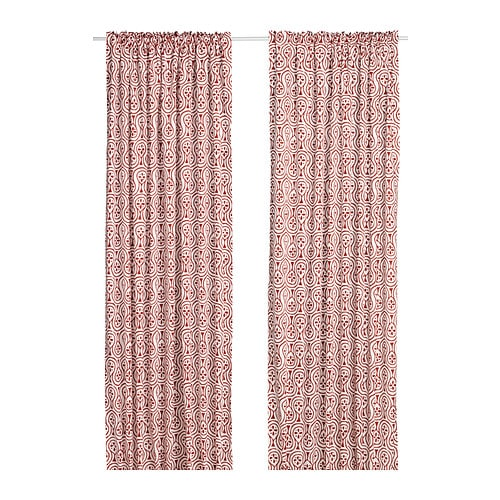 LAPPLJUNG Curtains, 1 pair IKEA The curtains can be used on a curtain rod or KVARTAL curtain track.