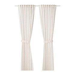 LATTJO Curtains with tie-backs, 1 pair $29.99