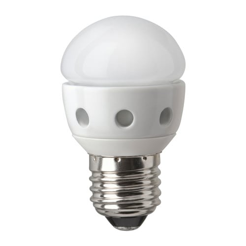 LEDARE LED bulb E27 IKEA LED consumes 85% less energy and lasts 20 times longer than incandescent bulbs.