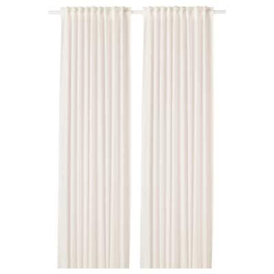 LEJONGAP curtains, 1 pair white 250 cm 145 cm 1.20 kg 3.63 m² 2 pack