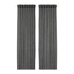 LEJONGAP curtains, 1 pair, dark grey