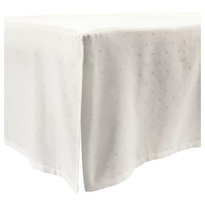 LENAST Cot skirt, dotted/white, 70x132 cm