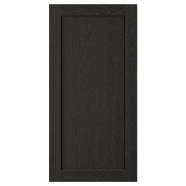 LERHYTTAN Door, black stained, 40x80 cm