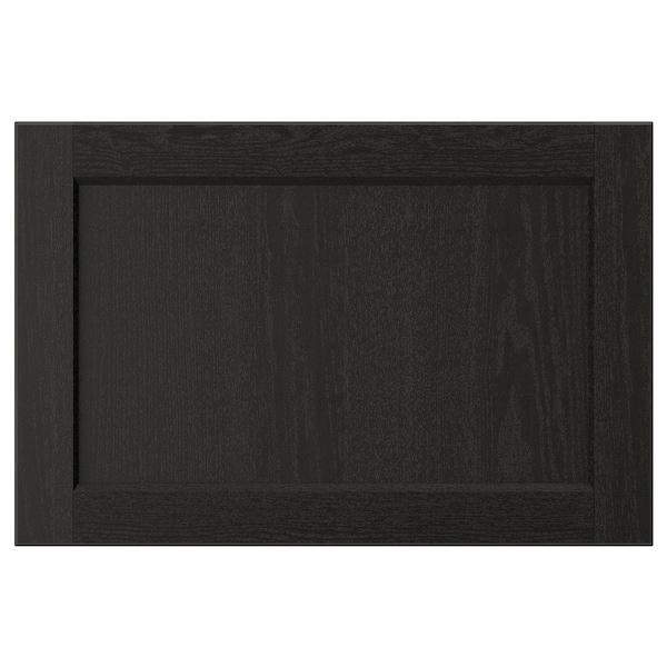LERHYTTAN Door, black stained, 60x40 cm
