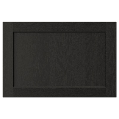 LERHYTTAN Drawer front, black stained, 60x40 cm