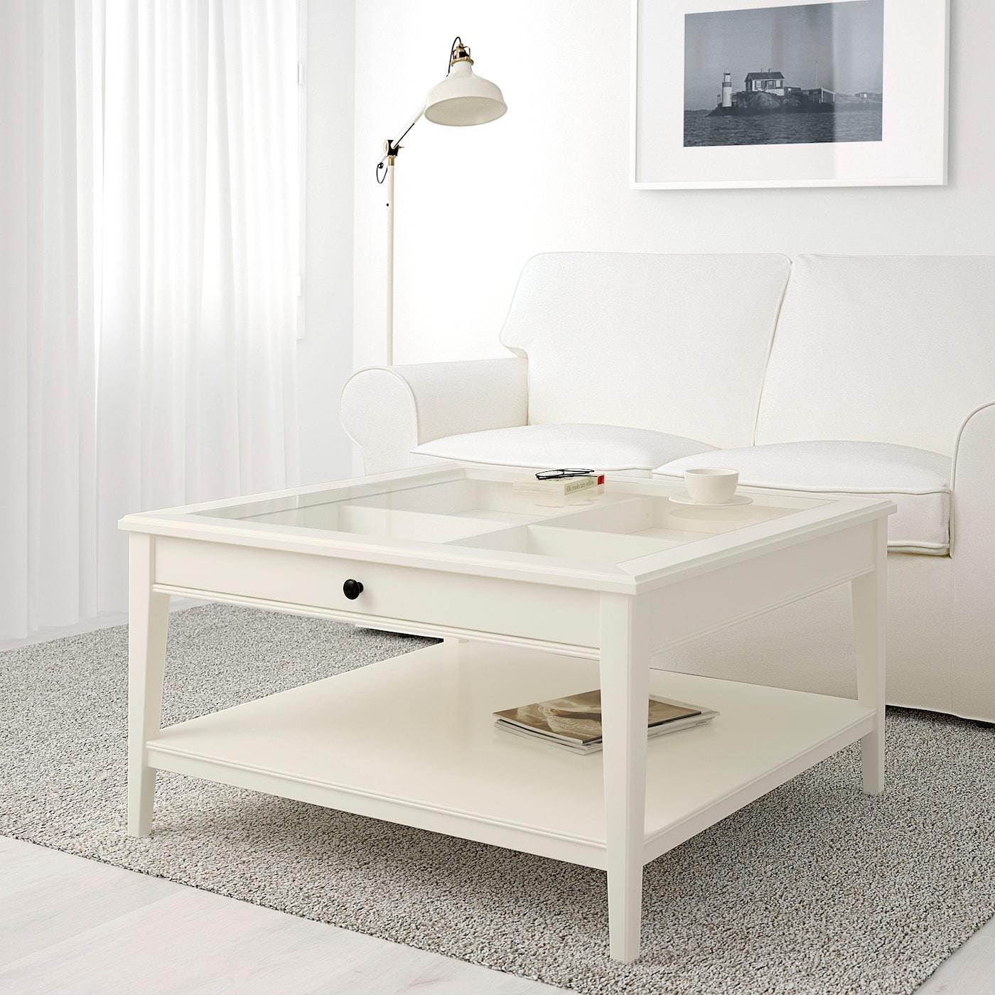 Liatorp Coffee Table White Glass 93x93 Cm Ikea [ 1400 x 1400 Pixel ]