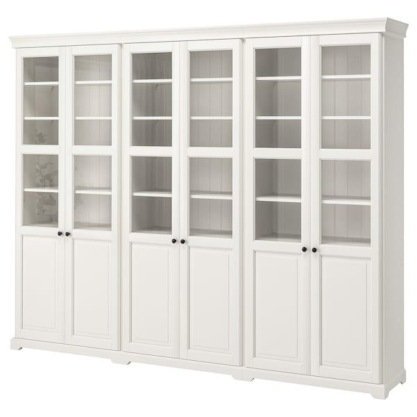 LIATORP Storage combination with doors, white, 276x215 cm