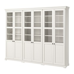 LIATORP storage combination with doors, white