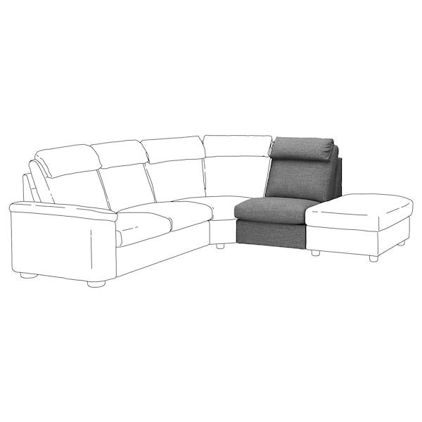 LIDHULT 1-seat section, Lejde grey/black