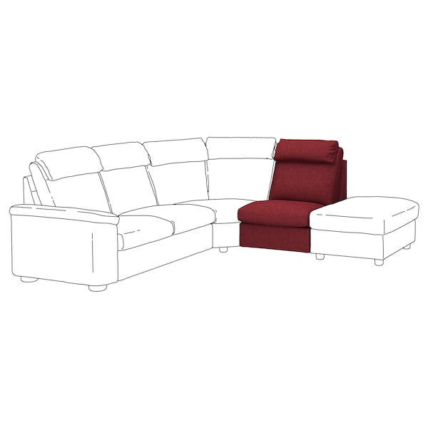 LIDHULT 1-seat section, Lejde red-brown
