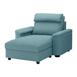 LIDHULT chaise longue, Gassebol blue/grey