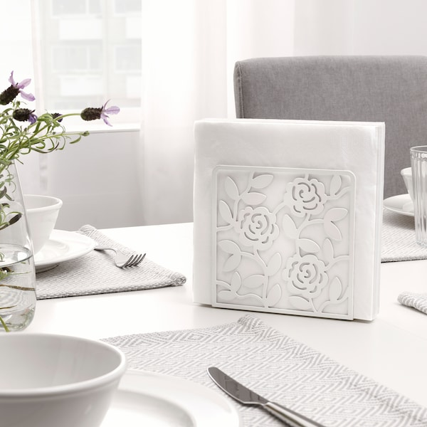 LIKSIDIG napkin holder white 16 cm 4 cm 16 cm
