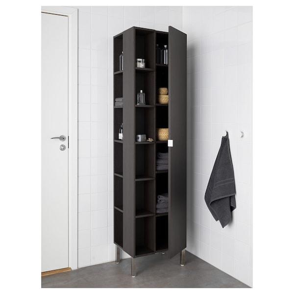 LILLÅNGEN End unit, black-brown, 19x19x179 cm
