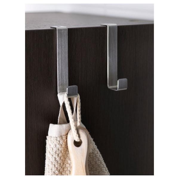 LILLÅNGEN High cabinet, black-brown, 30x38x179 cm