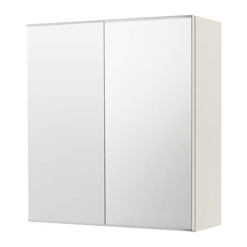 Ikea Garderobekast Verlichting ~ LILLÅNGEN Mirror cabinet with 2 doors IKEA The mirror comes with
