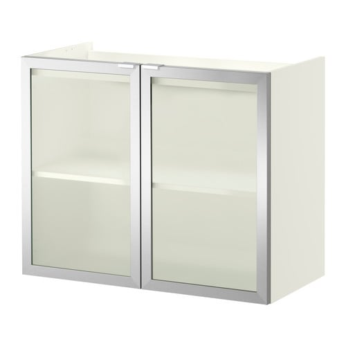 LILLÅNGEN Wash-basin cabinet with 2 doors - white/aluminium ...