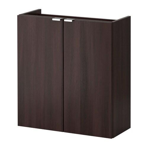 LILL NGEN Wash Basin Cabinet With 2 Doors Black Brown 60x25x64 Cm IKEA
