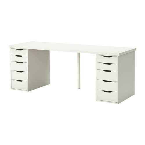 linnmon alex table white ikea. Black Bedroom Furniture Sets. Home Design Ideas