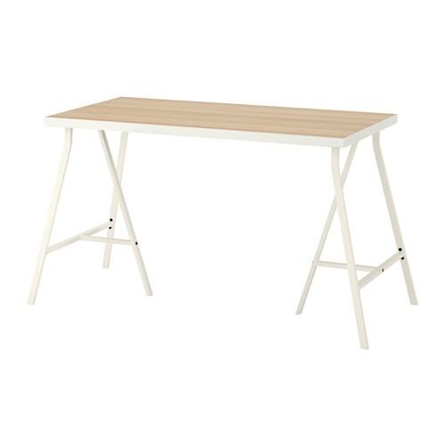 LINNMON LERBERG Table White Stained Oak Effect