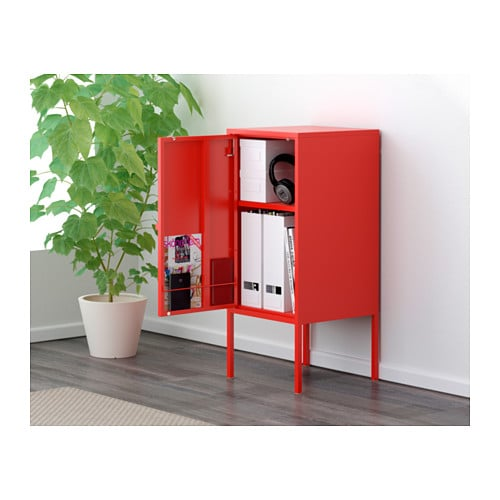 LIXHULT Cabinet - metal/red - IKEA
