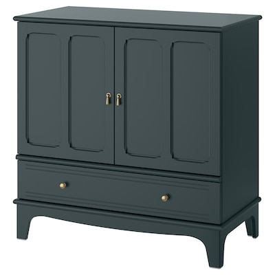 LOMMARP Cabinet, dark blue-green, 102x101 cm