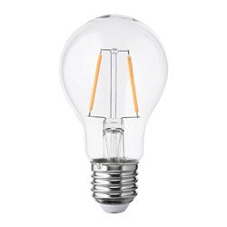 LUNNOM LED bulb E27 100 lumen, globe clear glass