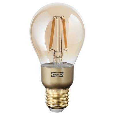LUNNOM LED bulb E27 400 lumen dimmable/globe brown clear glass 2200 K 60 mm