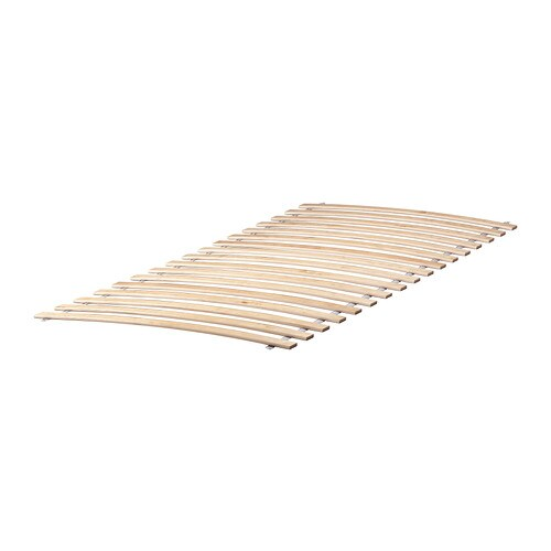 LURÖY Slatted bed base IKEA 16 slats of layer-glued birch adjust to your body weight and increase the suppleness of the mattress.