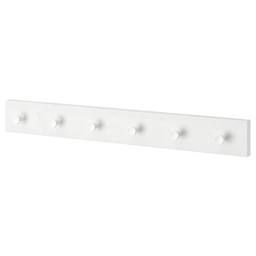 LURT / GUBBARP rack with 6 knobs white/white 57 cm 4.7 cm 7 cm